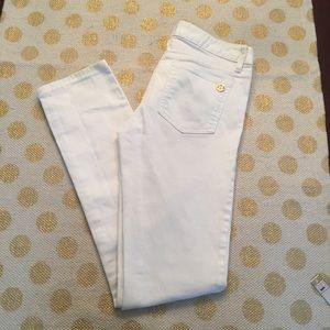 Tory Burch White Super Skinny Jeans size 26